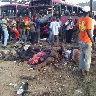 The Bus Park littered with Dead Bodies